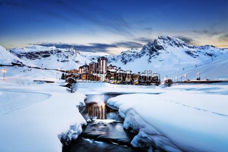 tignes alpi francia