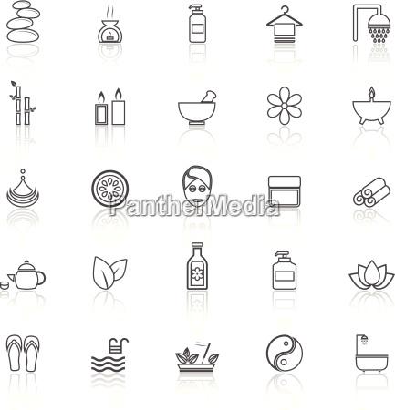 icone delle linee spa con riflette
