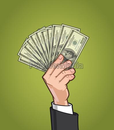 mani che mostrano denaro 1