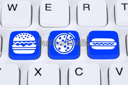 ufficio prenotare ordinare cibo tastiera servizio