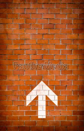 muro direzione mattoni mattone firmare punto