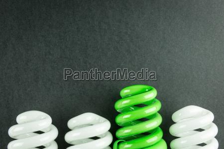 lampadine di risparmio energetico concetto di
