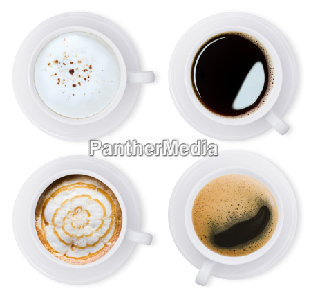 coffee isolated white collection set with