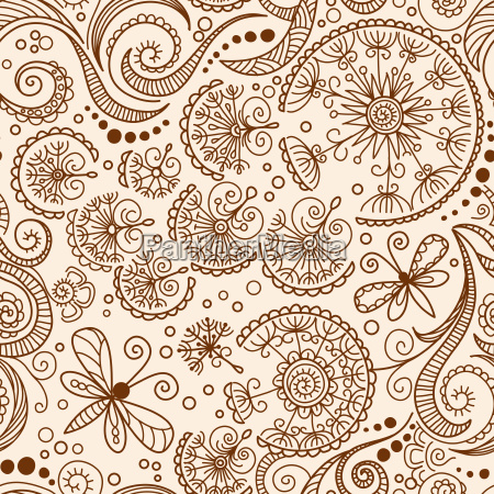 vettore senza soluzione di continuita henna