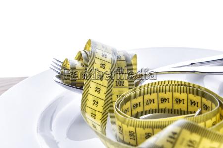 misuratore di nastro con forchetta e