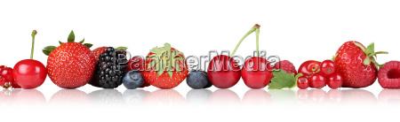 rilasciato opzionale frutta fila fragola ciliegia