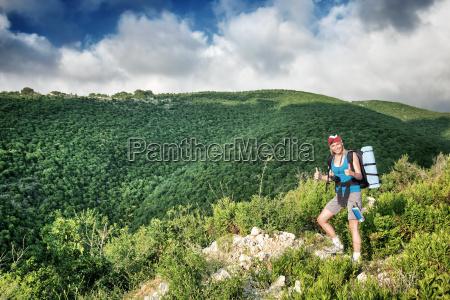 montagne escursione gita estate attivo ragazza
