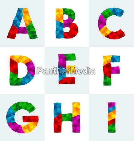 carattere poligonale