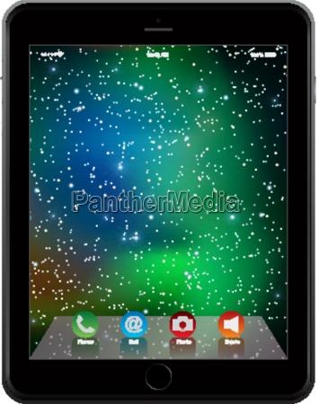 foto realistico tablet simile allo stile