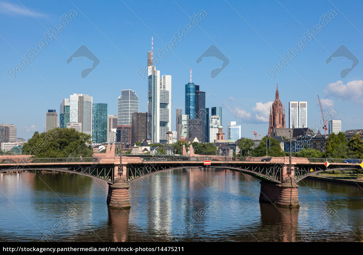 skyline, di, frankfurt, main, assia, germania - 14475211