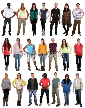 risata felice multiculturale giovani gruppo molte