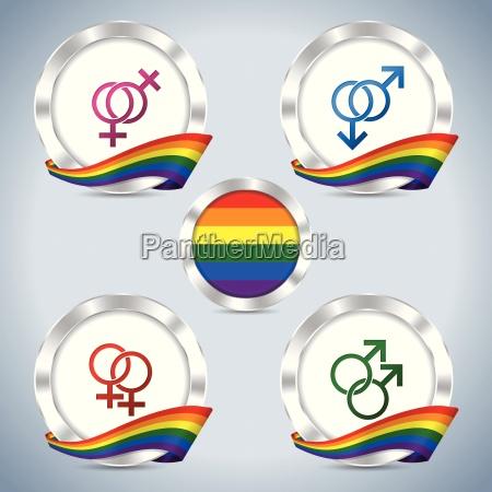distintivi metallici con nastro di orgoglio