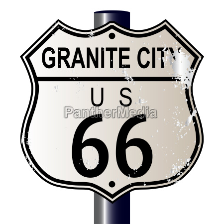 granite city route 66 sign