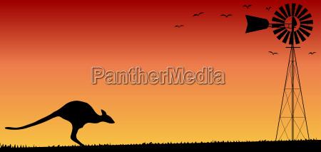 arte grafico macchinario tramonto agricoltura alba