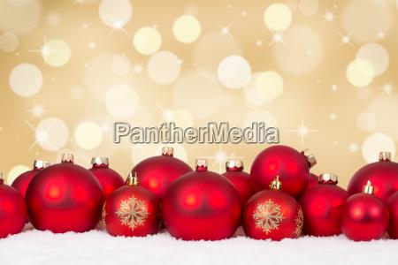 dorato decorazione palla di natale neve