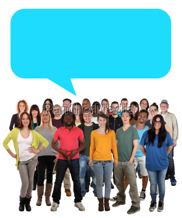 persone multiculturali gruppo giovani con bolla