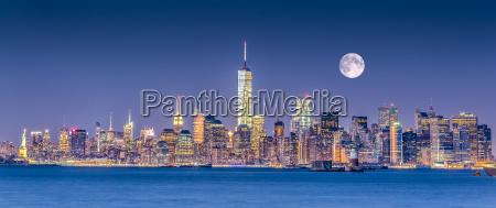skyline del centro di new york
