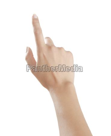 il dito delle donne punta verso