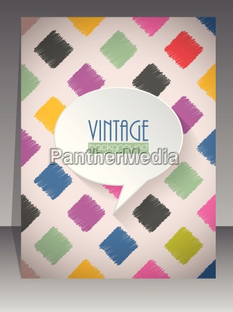 cool vintage retro scrapbook copertina design