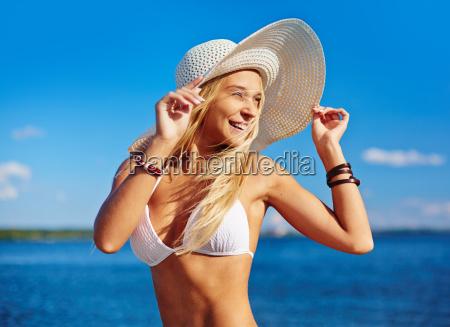 happy sunbather