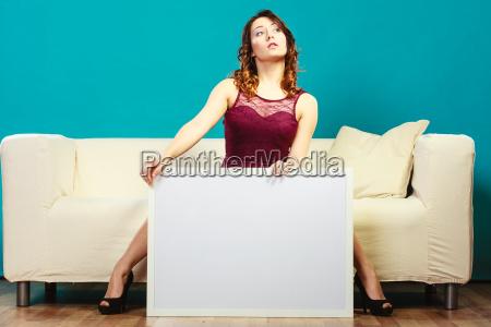 donna blu lavagna pannello moda alla