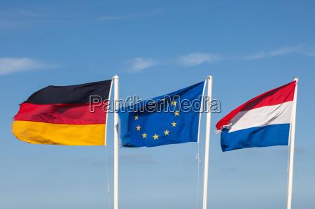bandiere di germania paesi bassi e