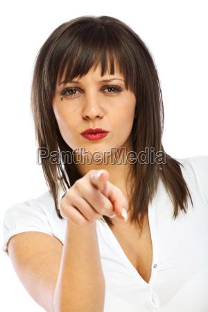 donna chiudere donne mano dito singolo
