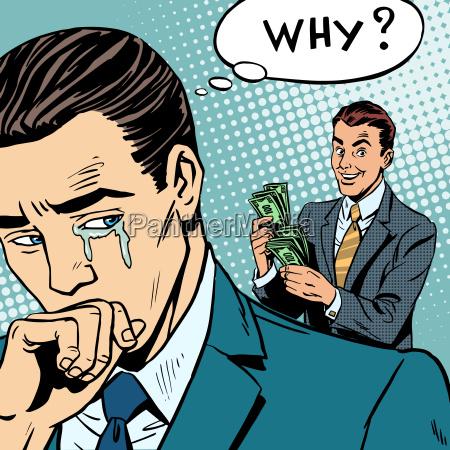 invidia concorrenza uomo che piange concorrente