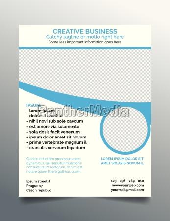 creative business flyer modern blue