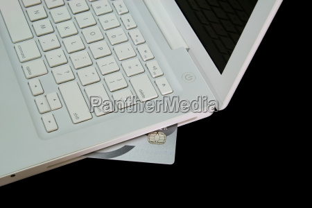 carta di credito nel computer portatile