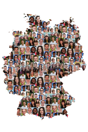 germany map people young people group