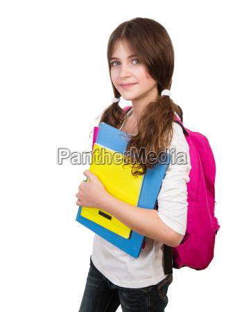 carino studentessa ritratto