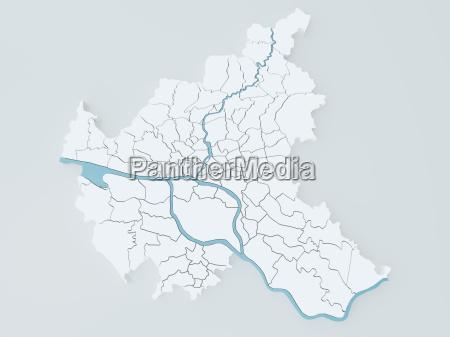 amburgo mappa della citta contee germania