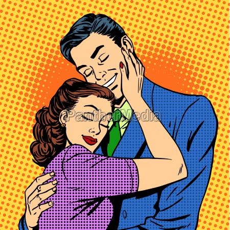 para w milosc przytulanie maz zona