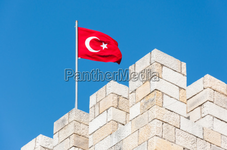 bandiera fortezza turchia turco nazionale castello
