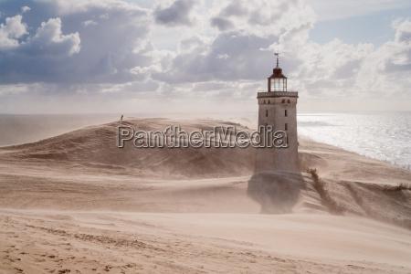 tempesta di sabbia al faro