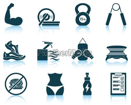 insieme delle icone di forma fisica