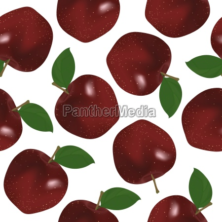 red apple seamless pattern