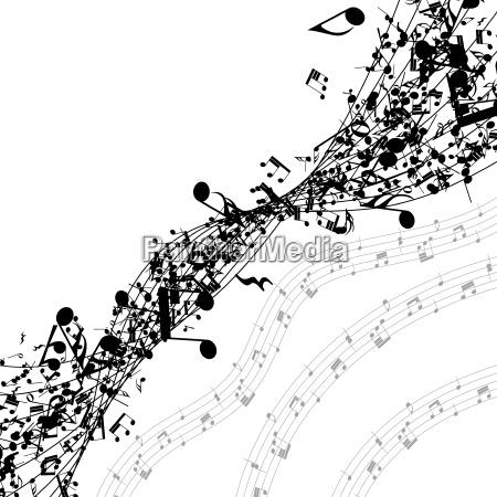 note musicali di fila