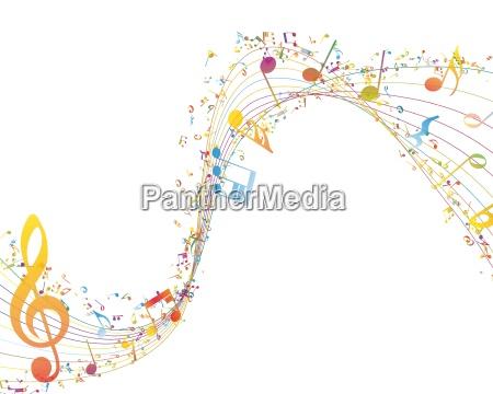 chiave musicale con riga di note
