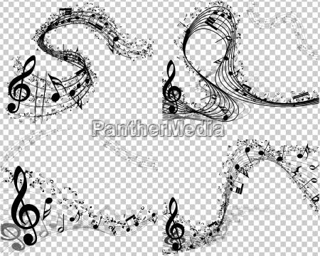 musica musicale illustrazione nota raccolta parure