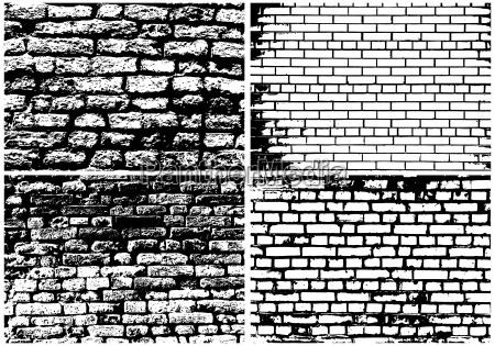 insieme del muro di mattoni del