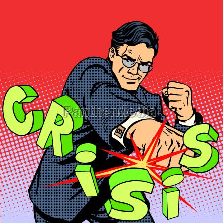 super uomo daffari eroe contro crisi