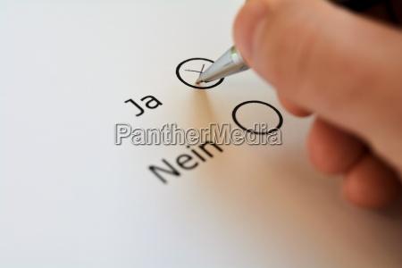 votare si o no