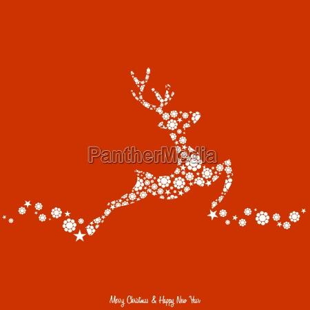 fiore fiori natale renna floreale