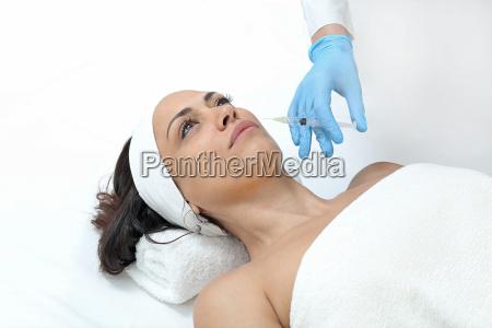 donna femminile faccia trattamento femmina tener