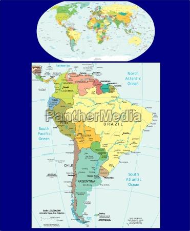 mappa delle regioni del mondo e