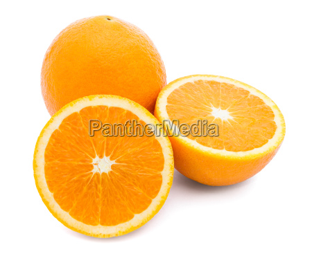 orange fruit on white background with