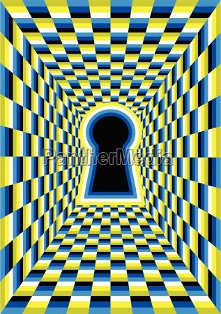 illusione ottica con foro