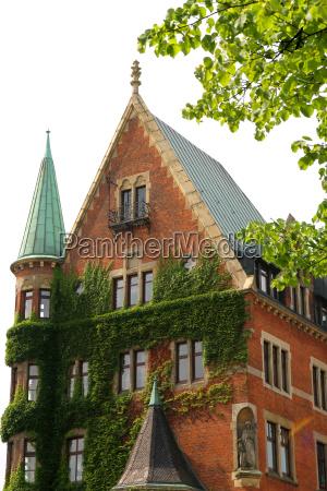historic building in the speicherstadt in